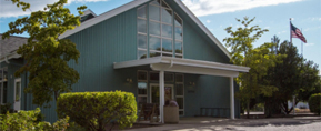 Philomath Public Library front entrance