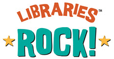 libraries rock summer reading button