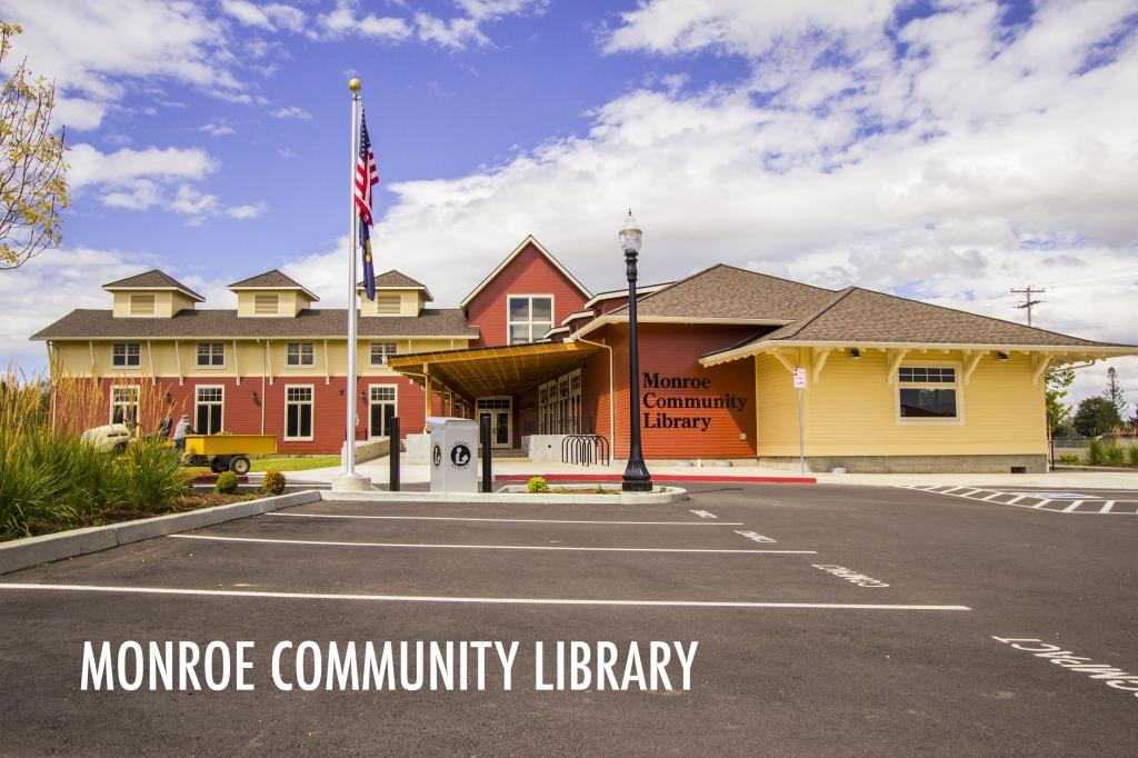Monroe Public Library main entrance