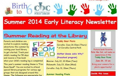 Early Literacy Newsletter