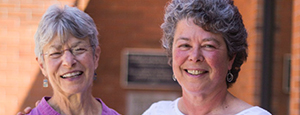 support your library - photo of Connie and Debra