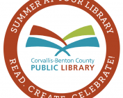summer reading badge red
