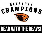 Read with the Beavs beaver logo