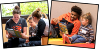 Oregon State athletes reading with children