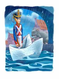 Tin Soldier in Hat Boat