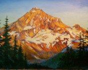 Mount Hood painting