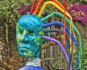 Oregon Country Fair giant pupet head