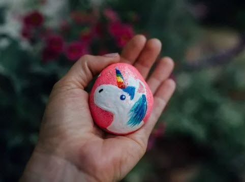 unicorn kindness rock
