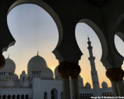Photo of mosque at sunset