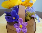 Decorated and filled basket