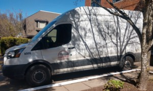 photo of Library courier van