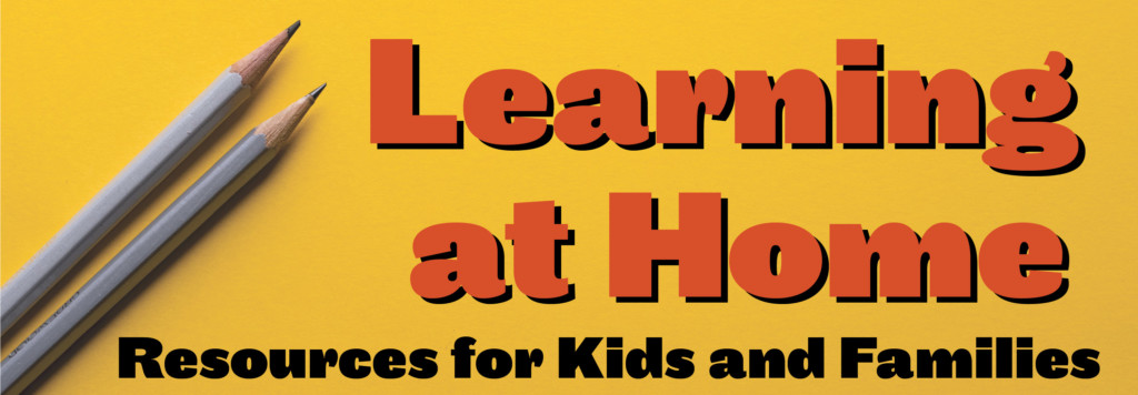 Yellow background learning at home for kids and families