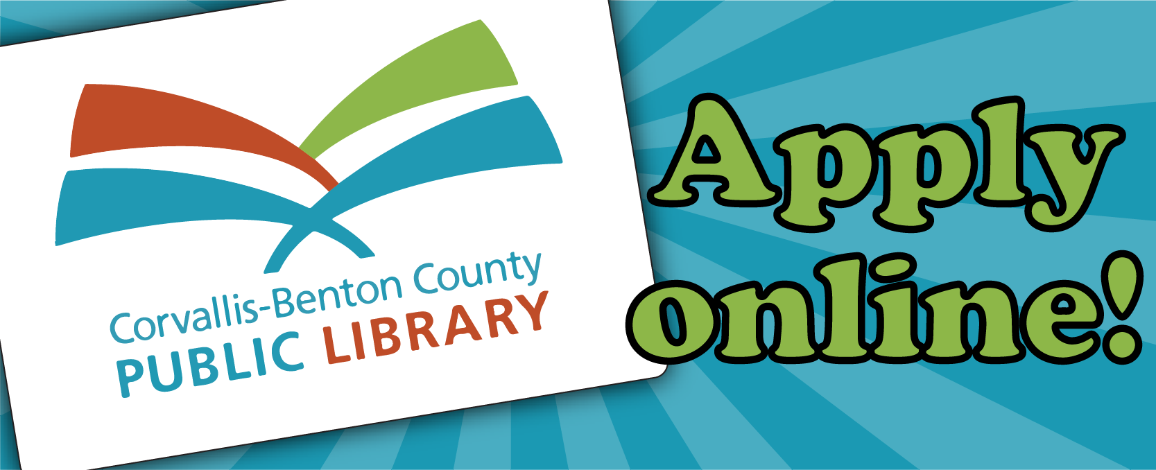 Apply online for a library card