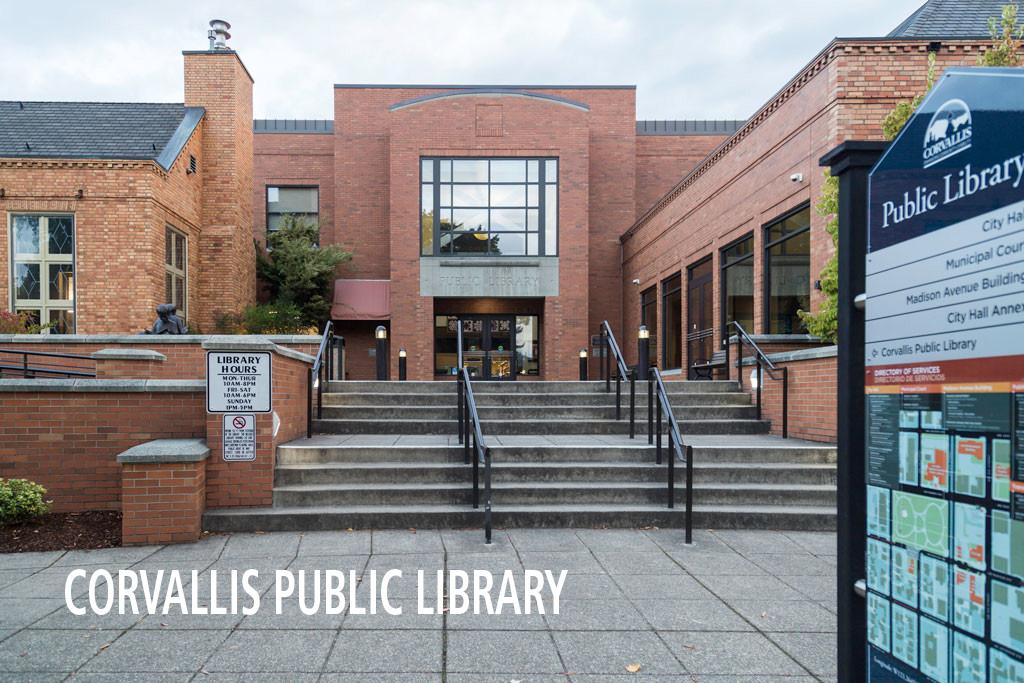 Corvallis Public Library main entrance