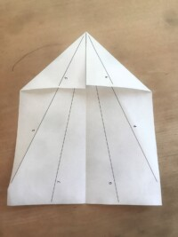 Photo of paper airplane step 2