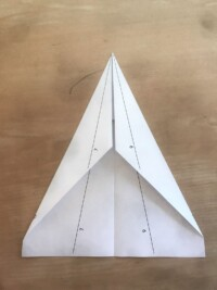 Photo of paper airplane step 3
